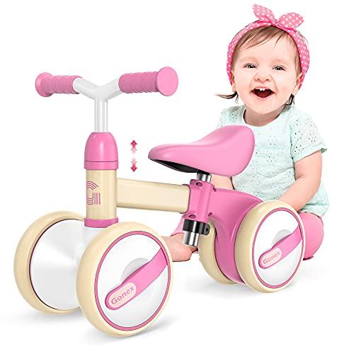 Gonex Kinder Laufrad 1 Jahr, Lauffahrrad H?henverstellbar, Baby Laufrad 4 R?der Rutschrad Jungen M?dchen...