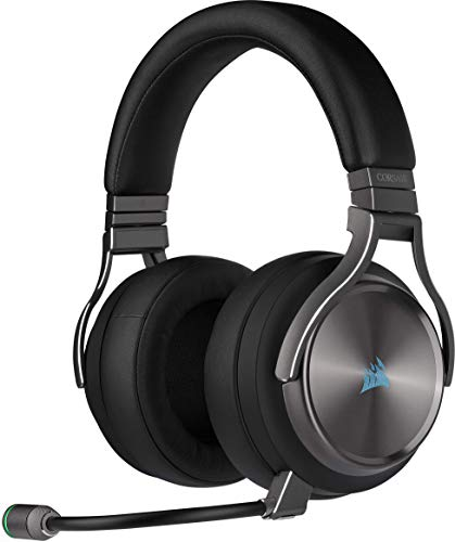 Corsair Virtuoso RGB Wireless SE High-Fidelity Gaming Headset (Slipstream Technologie, 7.1 Surround Sound,...
