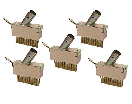 5er Set Unkraut Fugenbürste mit je 29 x 30 Metall-Borsten und Schaber gegen Unkraut ohne stiel, Fugenkratzer...