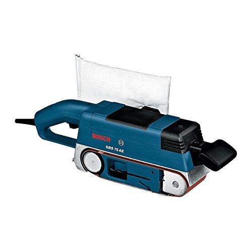 Bosch Professional GBS 75 AE Set, 750 W Nennaufnahmeleistung, 75 mm Schleiffläche, Koffer, Gewebeschleifband,...