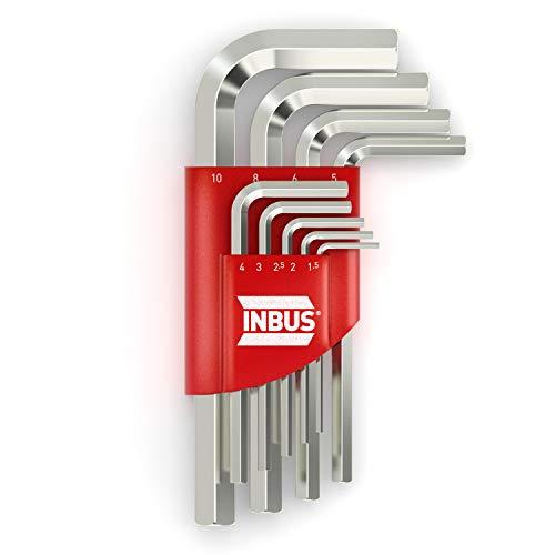 INBUS® 70150 Inbusschlüssel Set 9tlg, 1.5–10mm — Made in Germany