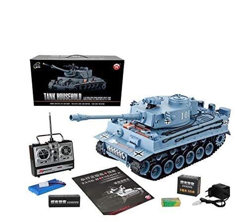 s-idee® RC Panzer YH4101E-1 German Tiger 1:16 2.4 Ghz Ferngesteuerter Panzer RC Tank mit Schuss-Funktion...