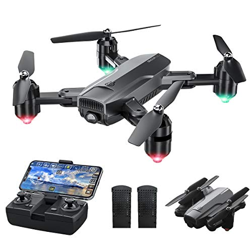 Dragon Touch Drohne mit Kamera 1080P HD, 120° Weitwinkel haltbar RC Quadrocopter mit WiFi FPV Live...