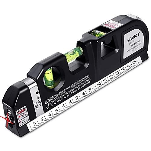Semlos Mehrzweck-Laser-Wasserwaage zum Aufhängen von Bildern, Wasserwaagen, Linienlaser, 2,4 m Maßband,...