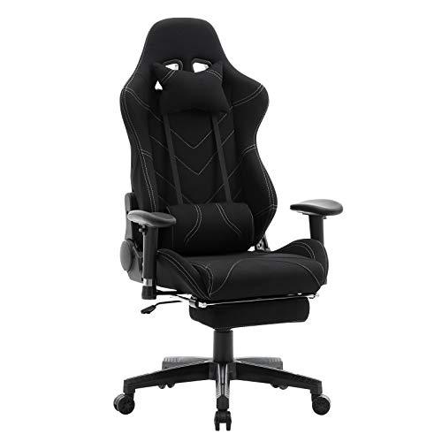 WOLTU® Racing Stuhl BS21sz Gaming Stuhl Bürostuhl Schreibtischstuhl Sportsitz mit Kopfstütze und...