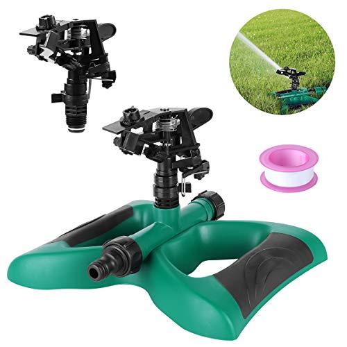 FIXKIT Rasensprenger, Automatische 360 Grad Garten Sprinkler mit Auswirkungs Sprinkler geeignet für Rasen,...