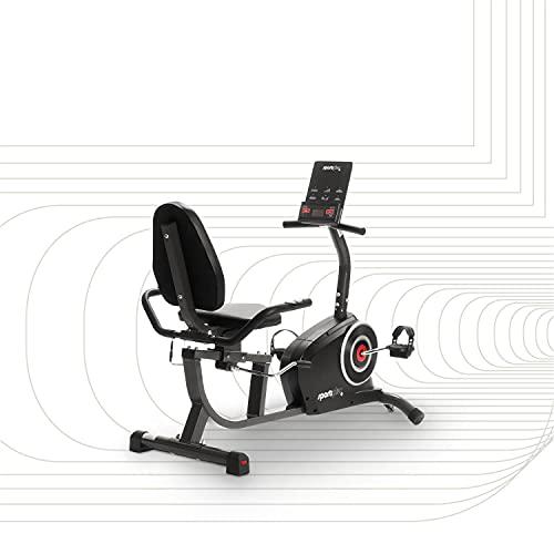 SportPlus Liegeergometer mit App-Steuerung, 24 computergesteuerte Widerstandsstufen, Handpulssensoren,...