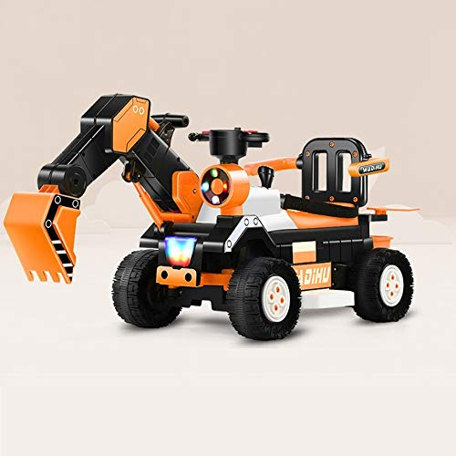 Lihgfw Kinderbagger kann den Bagger-Spielzeug-Auto-Koppler-Baufahrzeug-Kinder-Elektroauto-Spielzeug-Vier-Rad...