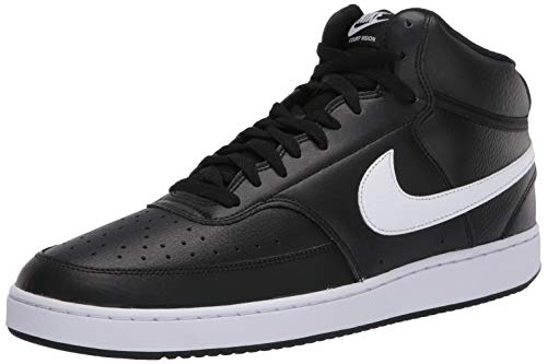 Nike Herren Court Vision MID Basketballschuhe, Mehrfarbig (Black/White 001), 42.5 EU