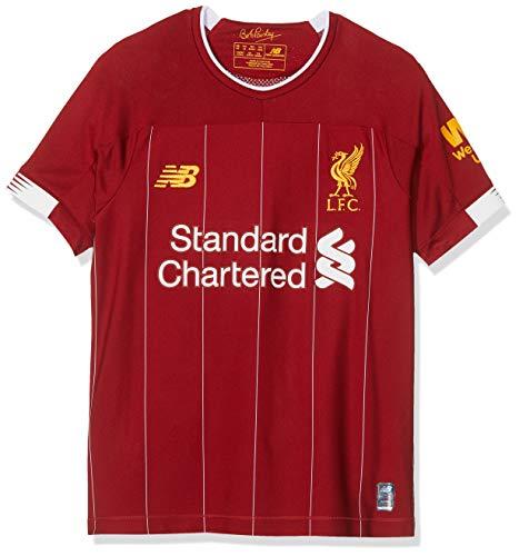 New Balance Offizielles Heimtrikot Liverpool FC, für Kinder, Saison 2019/20, Junior-Kurzarmshirt, Rot, 158