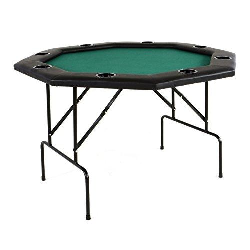 Nexos Profi Casino Pokertisch klappbar 8-eckig 120 x 120 cm Höhe 76 cm, Getränkehalter Armauflagen...