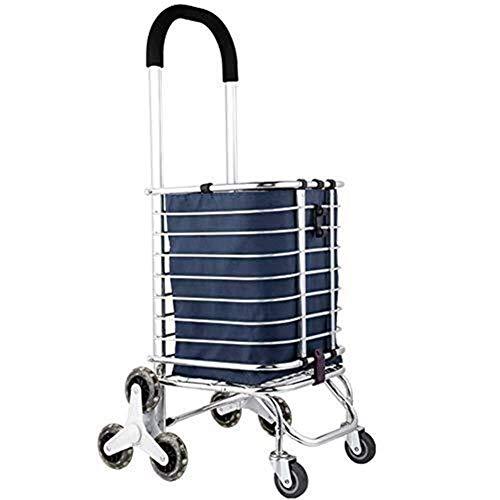 LQBDJPYS Einkaufswagen, 8 Räder, faltbar, für Wäsche, Reisen, Werkzeugwagen, tragbares Gepäck, LKW