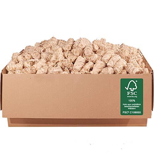 ORANGE DEAL 5,0 kg Kamin-, Grill- Ofen-Anzünder (Anzündwolle, Anzündhilfe) aus Holzwolle + Wachs FSC® 100%