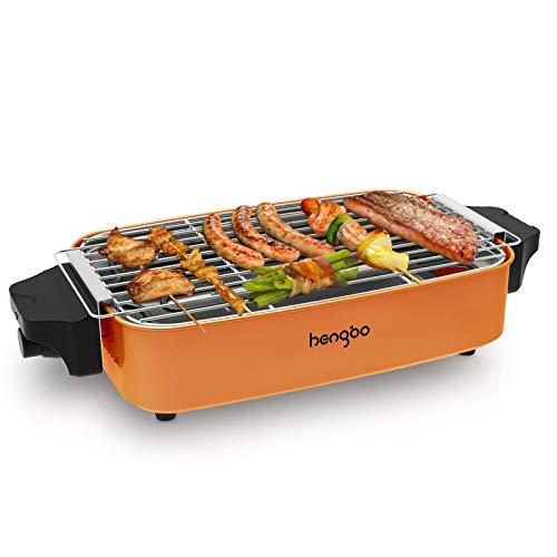 HengBo Tischgrill Elektrogrill Elektrisch Barbecue Balkongrill Rauchfreier, Einstellbare Temperatur,...