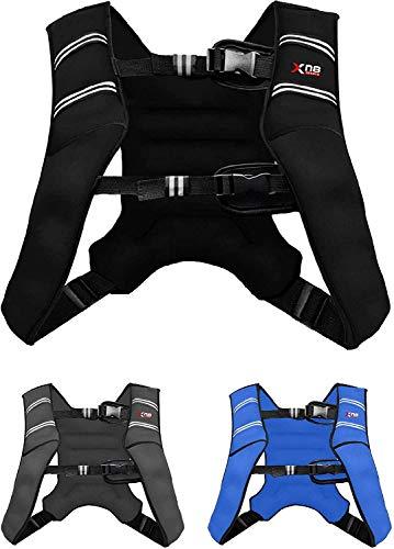 XN8 Verstellbar Gewichtsweste 8kg & 10kg Fitnessweste- Neopren Trainingsweste für Krafttraining- Laufen-...