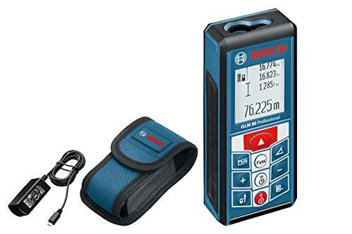 Bosch Professional Laser-Entfernungsmesser GLM 80, 0,05 - 80 m Messbereich, ± 1,5 mm Messgenauigkeit,...