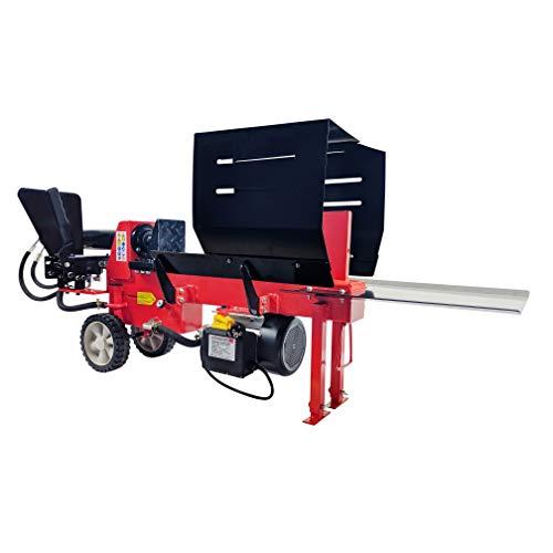 CROSSFER Holzspalter HLS8T-230V / 8 Tonnen Spaltkraft / 52cm Spaltlänge / 230V Elektromotor / 2 Hand...