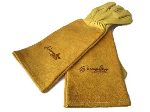 Exemplary Gardens Rosen Gartenhandschuhe für Damen und Herren. Ziegenleder Gartenhandschuhe haben eine Lange...
