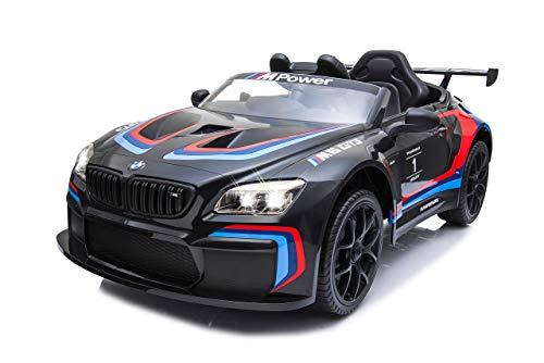JAMARA 460474 Ride-on BMW M6 GT3 schwarz-Leistungsstarke Antriebsmotoren und Akku für Lange Fahrzeit, 3-Gang,...