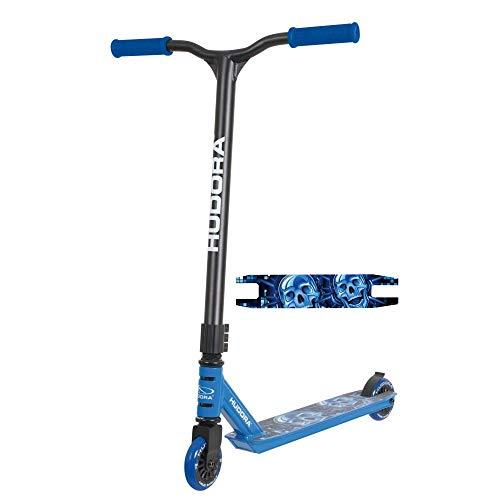 HUDORA Hudora_14025 StuntScooter XQ12, blau 14025 Freestyle Tretroller