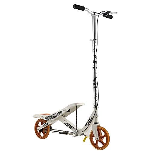 Rockboard RBX - Tretroller mit Schwungrad - Wippscooter - Luftdruckdämpfer Angetriebener Roller mit Bremsen -...