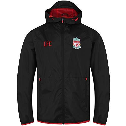 Liverpool FC - Herren Wind- und Regenjacke - Offizielles Merchandise - Schwarz - Kapuze mit Schirm - M
