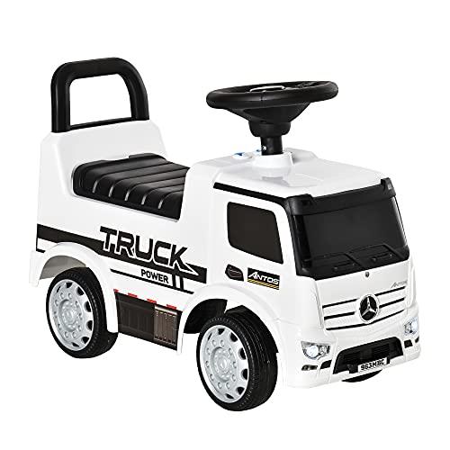 HOMCOM Rutscherfahrzeug Rutscherauto Babyrutscher Kinderfahrzeug lizenziert von Mercedes ANTOS-LKW-Stil mit...