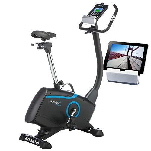 skandika Ergometer Fahrrad Atlantis | Heimtrainer mit App Steuerung (Kinomap, iConsole), Bluetooth, 10kg...
