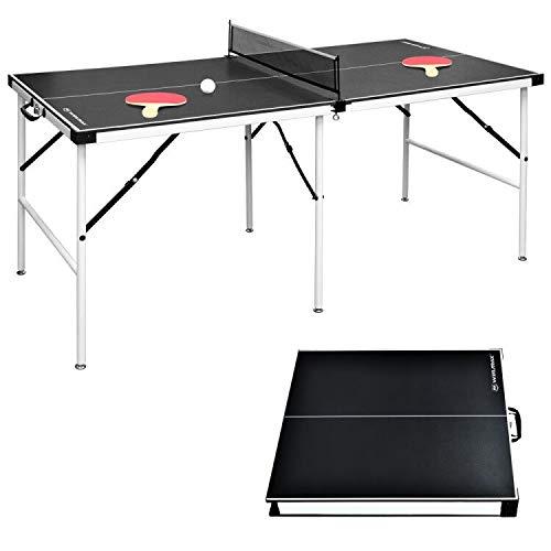 WIN.MAX Tischtennisplatte Midsize, 2021 Klappbare Tischtennistisch 152.4 x 73 x 69 cm, TT-Platte für Indoor &...