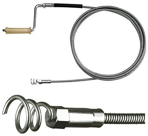 Rohrreinigungsspirale Ø 10mm x 10m, mit 30mm Trichterbohrer, ab 70mm Rohr, optionale Verlängerung