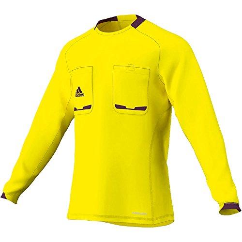 adidas Herren langärmliges Schiedsrichter Trikot Referee 12, Lemon Peel/Purple Beauty F10, XXL, X19660