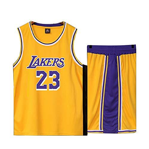 Basketball Trikot für Lebron Raymone James No.23 Lakers Fans Basketball ärmellose Anzug Kinder Erwachsene...