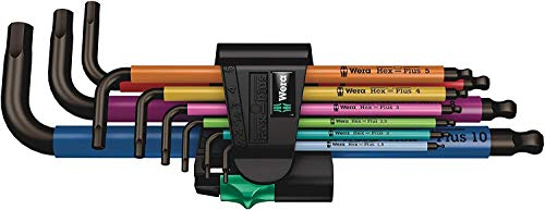 Wera 05073593001 950 SPKL/9 SM N SB Multicolour Winkelschlüsselsatz, metrisch, BlackLaser
