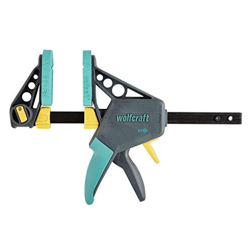 Wolfcraft 3030000 Einhandzwinge, Spannweite 150 mm, Mehrfarbig