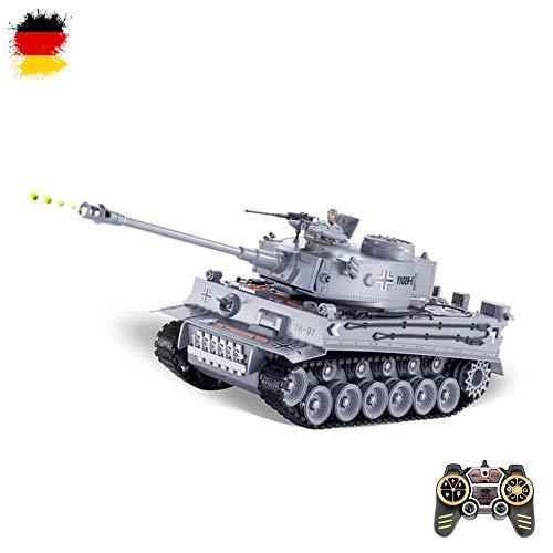 HSP Himoto 2.4GHz RC Ferngesteuerter Panzer mit Airsoft Schuss, Sound und Beleuchtung, Modell im Maßstab...