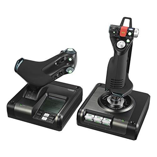 Logitech G Saitek X52 Pro Flight Control System, Schubregler und Stick-Simulationscontroller für...