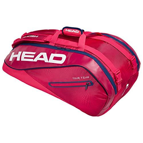 HEAD Unisex– Erwachsene Tour Team 9R Supercombi Tennistasche, black/silver, Einheitsgröße