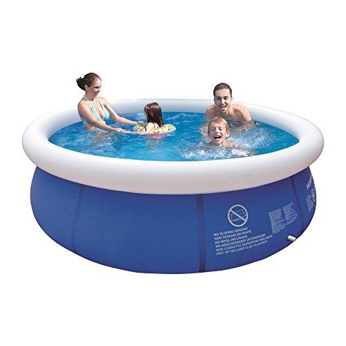 Jilong Marin Blue Rundpool Ø 300x76 cm Quick-Up Swimming Pool Fast-Set Schwimmbad Kinder und Familien...