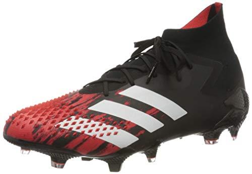 adidas Herren Predator Mutator 20.1 Firm Ground Fußballschuh, CBLACK/FTWWHT/ACTRED, 45 1/3EU