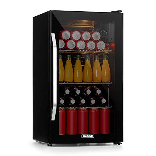 Klarstein Beersafe Onyx - Getränkekühlschrank, 5 Kühlstufen, 42 dB, flexible Metallböden, LED-Licht,...