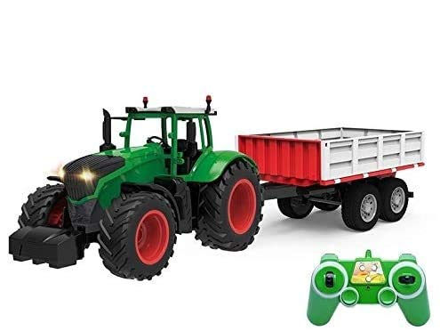 s-idee® S354 RC Traktor mit Anhänger 1:16 mit 2,4 GHz ferngesteuert mit Licht und Sound