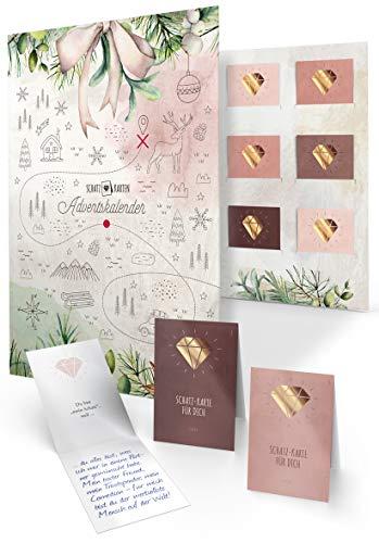 Schatz-Karten Adventskalender zum Ausfüllen für Erwachsene als Geschenk, 24 persönliche Botschaften, DIY...