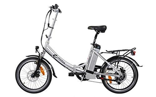 e-motos Alu Pedelec K20 Faltrad Klapprad E-Bike mit Akku (14,50Ah)