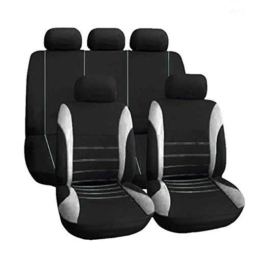 KKmoonUniversal-Autositzbezüge, für vorne und hinten, atmungsaktive Sitzbezüge, Autositzbezüge (rosa), 9...