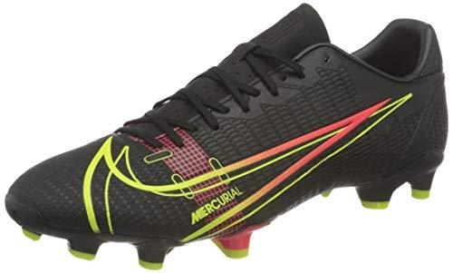 Nike Herren Vapor 14 Academy FG/MG Football Shoe, Black/Cyber-Off Noir-Rage Green-Siren Red, 40.5 EU