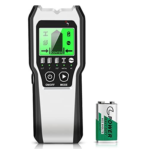 Luprat Ortungsgerät 5 in 1 Multifunktionswand Scanner Leitungssucher mit LCD Anzeige Detektor für Holz,...