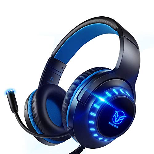 Pacrate PC Gaming Headset für PS4, PS5, Xbox One, PC, Rauschunterdrückung,Over-Ear, PS4 Headset mit LED...