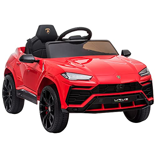 HOMCOM Kinderfahrzeug Elektroauto Sicherheitsgurt Fernbedienung MP3 3–5 Jahre PP Rot 102 x 65,4 x 52,6 cm