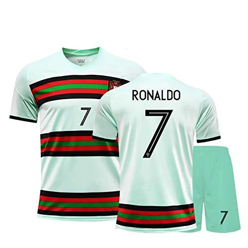 YANDDN 20-21 Portugal Trikot Nr. 7 Ronaldo Fußballuniform Custom Match Trainingsanzug Männer und Frauen...