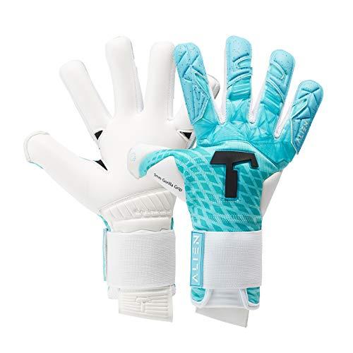 T1TAN Blue Devil Junior Kinder Torwarthandschuhe - Fußballhandschuhe Kinder mit Gorilla Grip - Handschuhe...